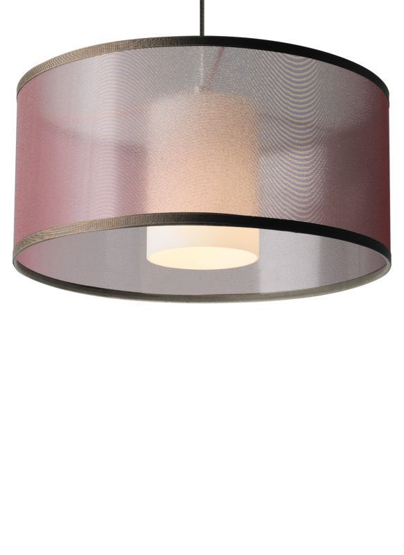 Tech Lighting 700mpmdlnwn Mini Dillon 1 Light Monopoint Halogen 12v Drum Pendant Brown With Satin Nickel Finish Indoor Lighting Pendants Drum Pendant Pendants Lighting