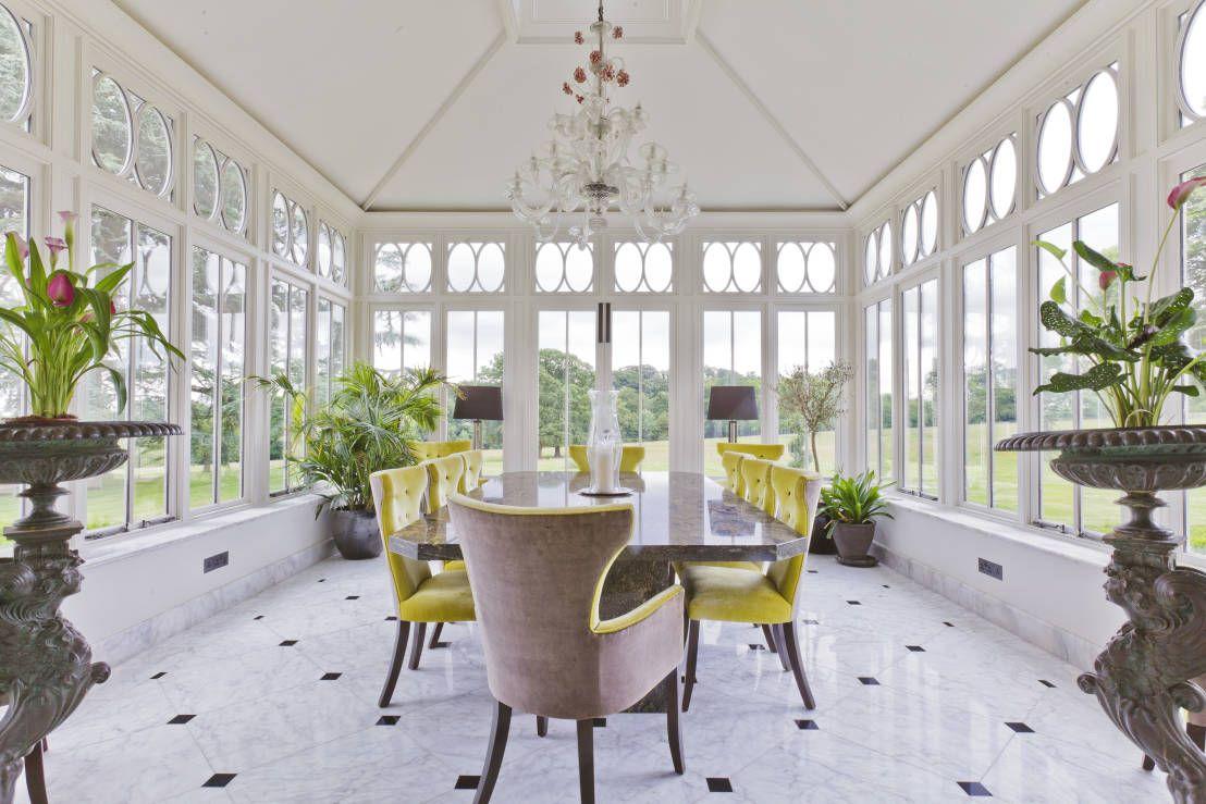 conservatory lighting ideas. Vale Garden Houses の クラシカルな 温室 Impressive Dining Conservatory Lighting Ideas N