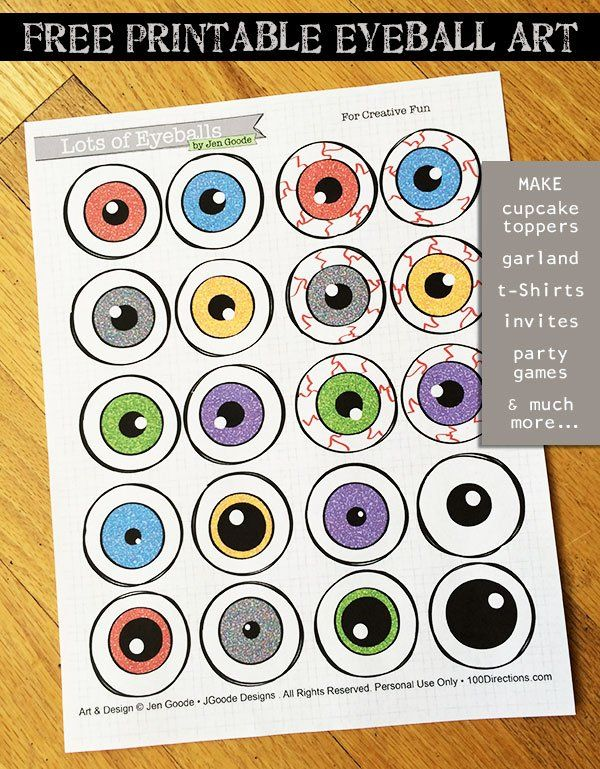It's just a picture of Adorable Free Printable Eyes for Crafts