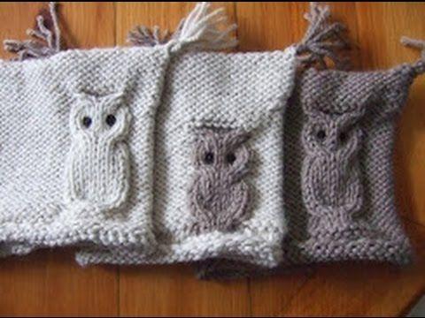 "Узор Сова спицами. (Knitting. Pattern ""Owl"") - YouTube"