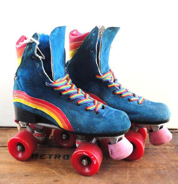 rainbow roller boots