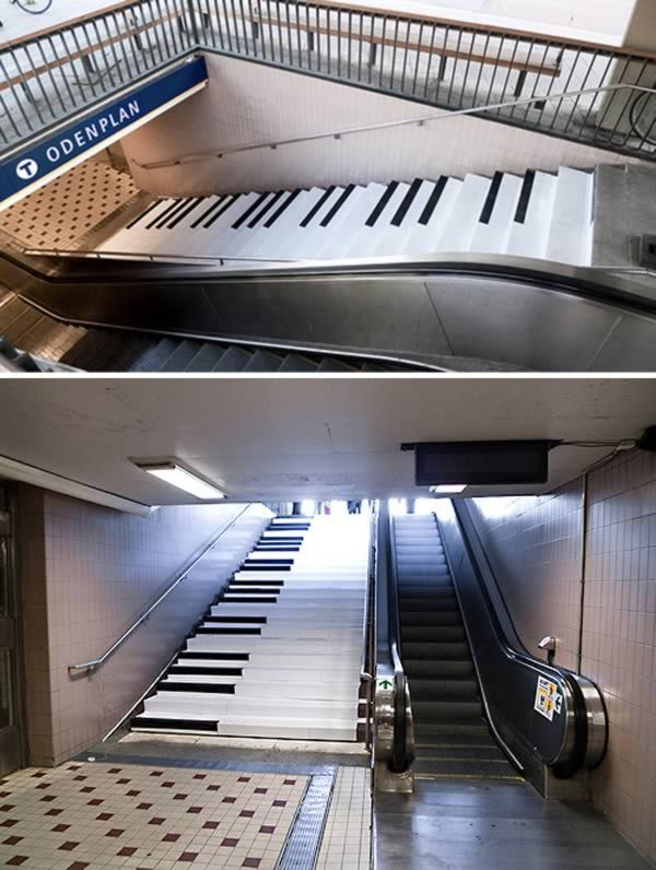 Best 10 Unique Staircase Ads Street Marketing Guerilla Piano 400 x 300