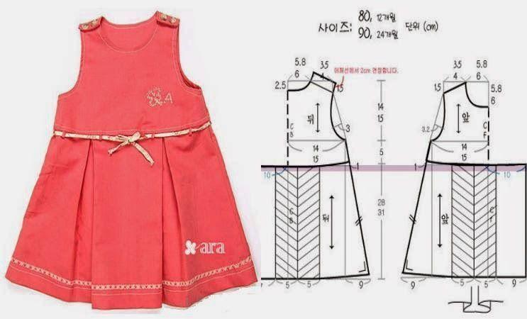 Vestido niña de 3 a 4 años | Diy: ideas & patrones | Sewing, Baby ...