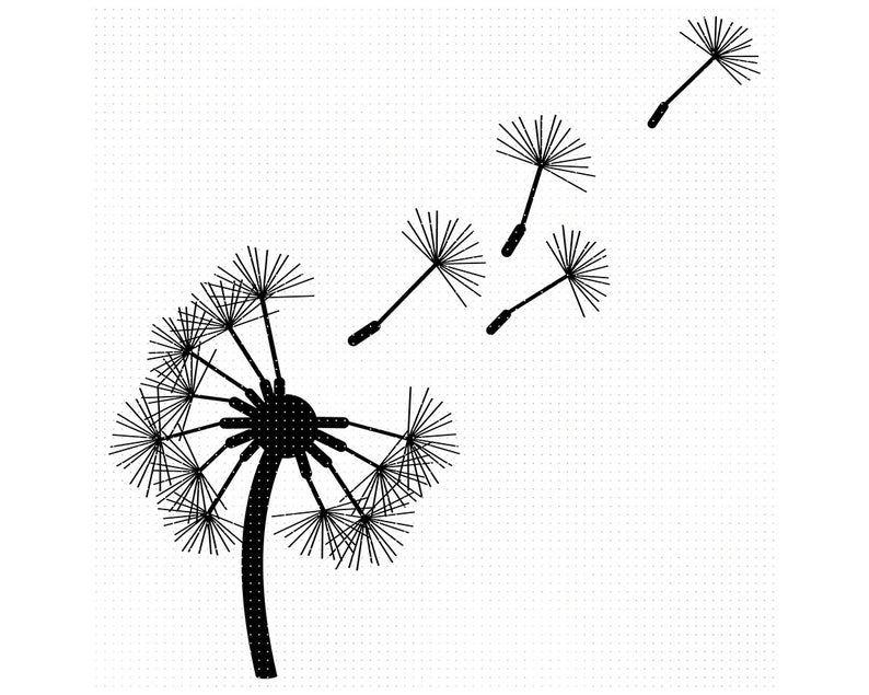 Dandelion Svg Dandelion Silhouette Dandelion Cricut Etsy In 2020 Dandelion Svg Flower Svg