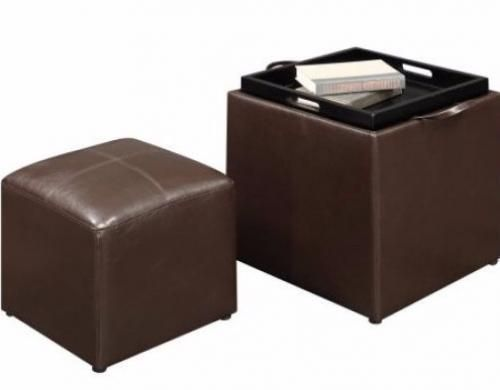 Storage Ottoman Set Drinks Tray Footstools Bench Coffee Table Entryway Side  Sofa #StorageOttomanSet