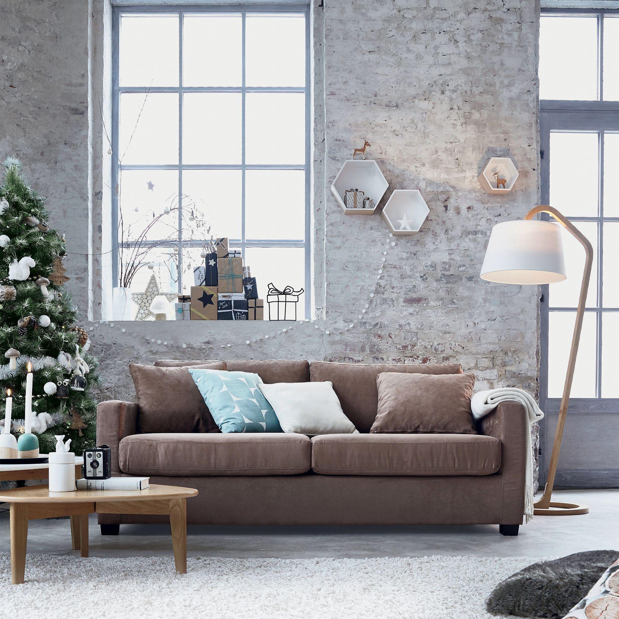 lampadaire style scandinave en ch ne et coton h165cm mokuzai alinea home pinterest. Black Bedroom Furniture Sets. Home Design Ideas