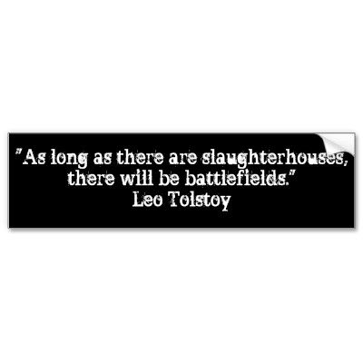 Tolstoy Vegetarian Quote Bumper Sticker #vegetarianquotes