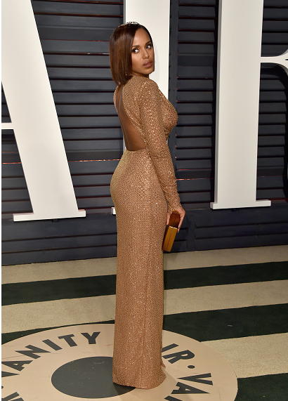 6fc7bd1ab0 Kerry Washington on Red Carpet at 2017 Vanity Fair Oscar Party Alfombra  Roja