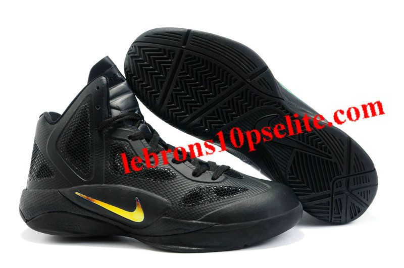 Nike Zoom Hyperfuse Black and Gold.