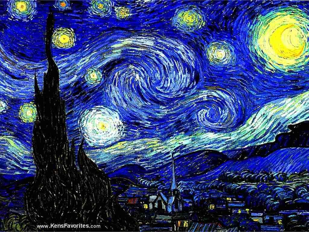 Cuando siento una necesidad de religión, salgo de noche para pintar ...