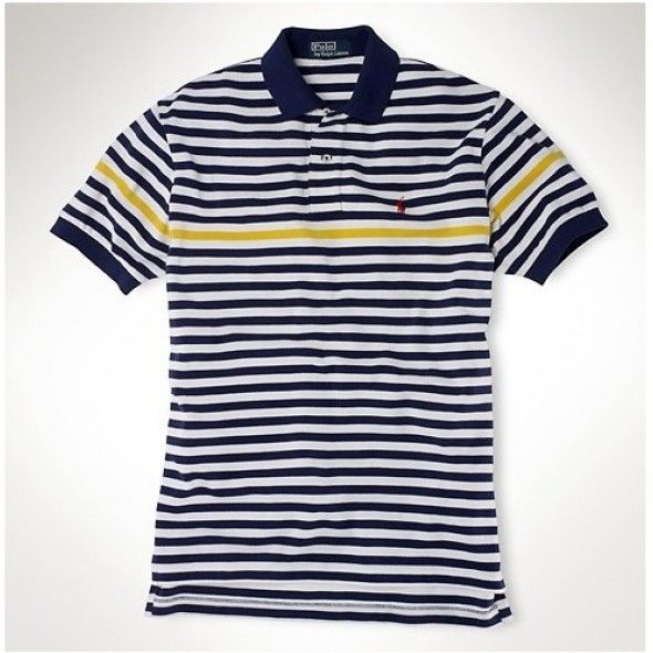Ralph Lauren Custom Leisure Breathable Cotton Navy Strip Polo wow, it is  beautiful and fashion