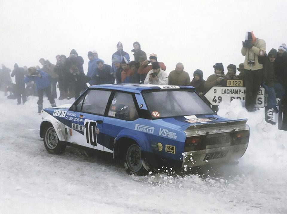 Walter Rhorl And Fiat 131 Rally Car Fiat Sport Vintage Race Car