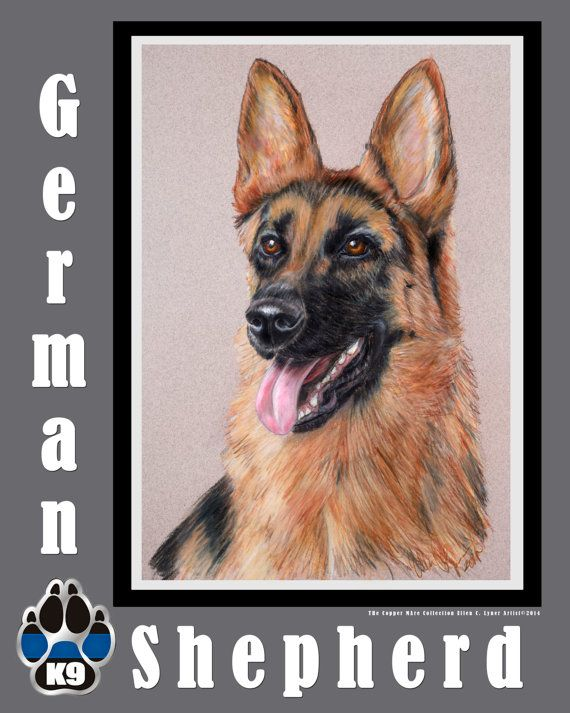 12x15 German Shepherd Glass cutting board by TheCopperMare on Etsy