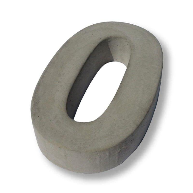 Hausnummer aus beton ziffer 0 h he 20 cm hausnummer for Beton haus bauen