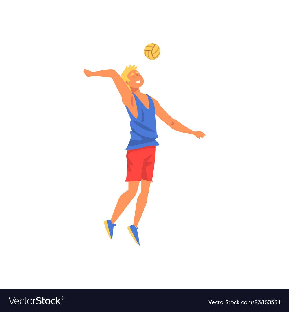 Male Volleyball Player Professional Sportsman Vector Image Sponsored Player Volleyball Male Professional A Vector Pattern Volleyball Players Vector