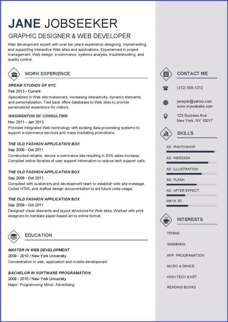 Bermuda Resume Template Resume Downloads Professional Resume
