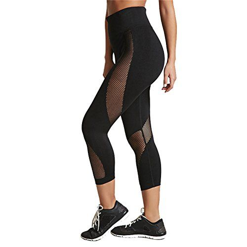 e018638ff315e Kaured Fashion Women's Leggings Polyester Black Mesh Patchwork Pants High  Waist Push up Perspective Sportwear Girl Legging