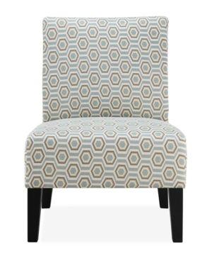 Best Brice Accent Chair Pastel Geometric Blue Accent 400 x 300