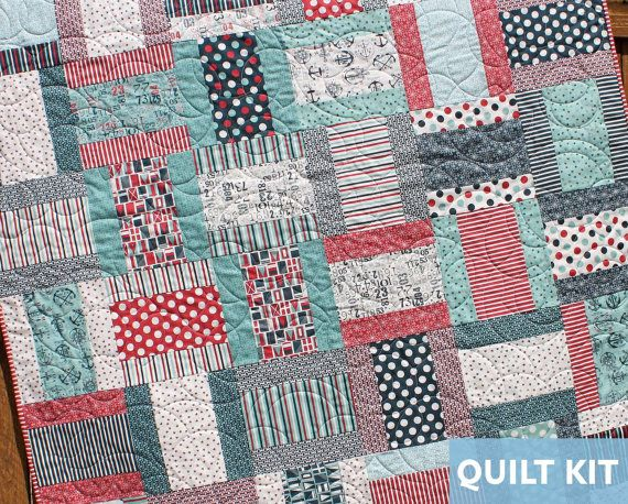 layer cake quilt patterns nautical quilt kit quilt kit the boat house layer 5430