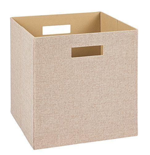 Decorative Fabric Storage Boxes Closetmaid 7114 Decorative Fabric Storage Bin Tan Closethttps