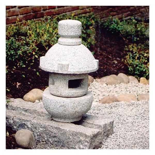Granitlampe Misaki Japanische Steinlaternen Japanisches Teehaus Laterne
