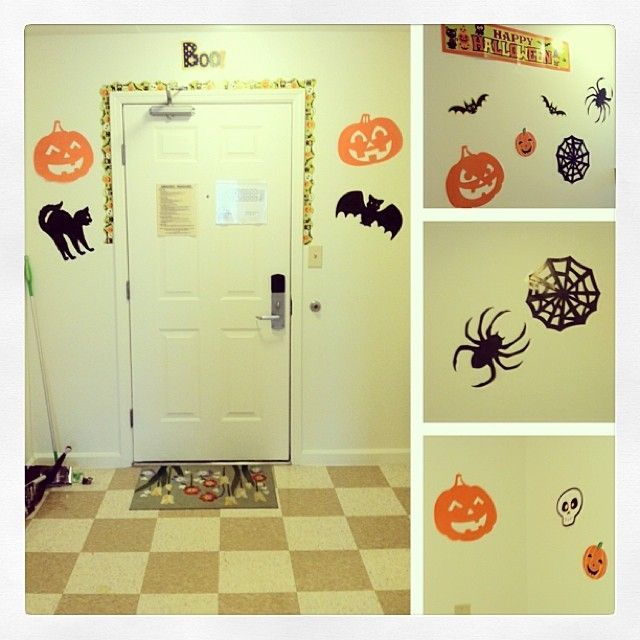Festive DIY decorating for the dorm at Halloween! All decorations - cute halloween diy decorations
