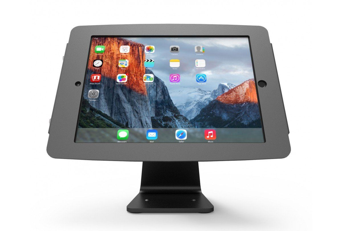 Compulocks Secure Space Enclosure With 360 Degree Kiosk Stand For Ipad 9 7 Black Ipad Kiosk Ipad Stand Ipad Features