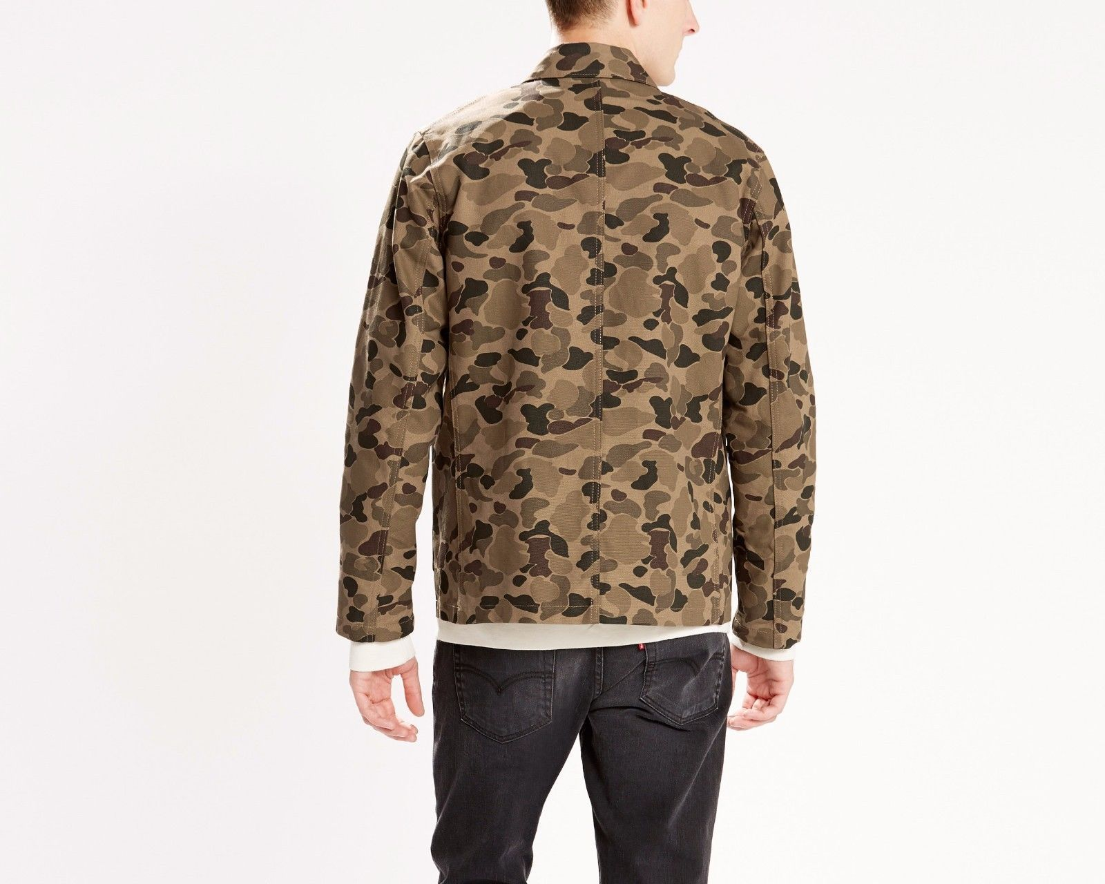 6c33a9a3 NWT LEVI's ENGINEER COAT Harvest Gold Camo JACKET Mens M Cotton Canvas MSRP  $88 in Clothing, Shoes & Accessories, Men's Clothing, Coats & Jackets | eBay