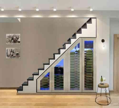 Cave Vin Sous Escalier Habitaciones De Vino Diseno Interiores