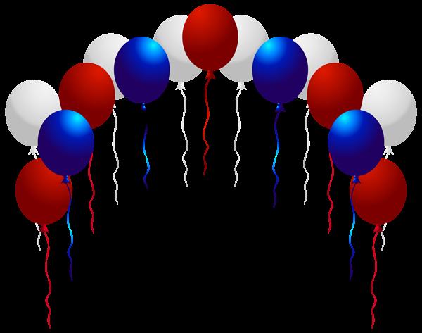 Usa Balloons Png Clip Art Image Balloons Blue Balloons Streamers