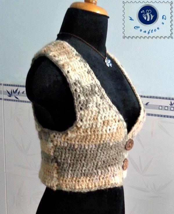 Crochet Short Vest Free Pattern Cardigan Haken Gratis Patroon