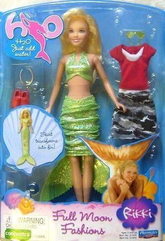 H2o Deluxe Just Add Water Rikki Doll H20 Very Rare Charm For H2o Mermaids Mako Mermaids Mermaid Dolls