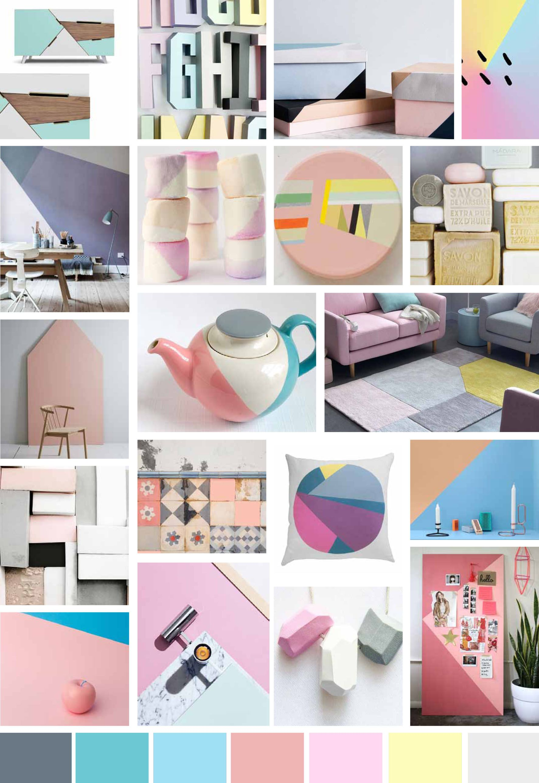 mood board spring summer trend colours soft pop pinterest bring back pastels and add softness to your home this season with pastel colour blocking write on trend