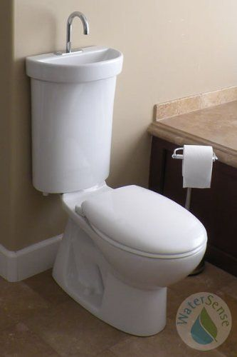 Caroma Eco Friendly Toilet Sink Combo Seat Not Included 840420w