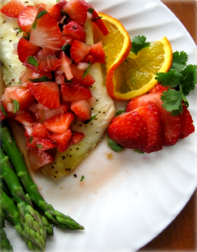 Orange Roughy With Strawberry Salsa Hcg Recipe P2 In 2019 Hcg Recipes Hcg Diet Recipes Food