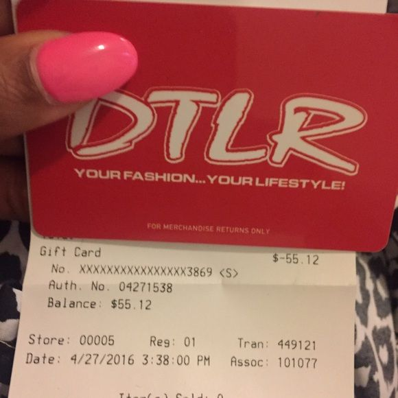 Gift card for DOWNTOWN LOCKER ROOM Gift card has a balance for ...