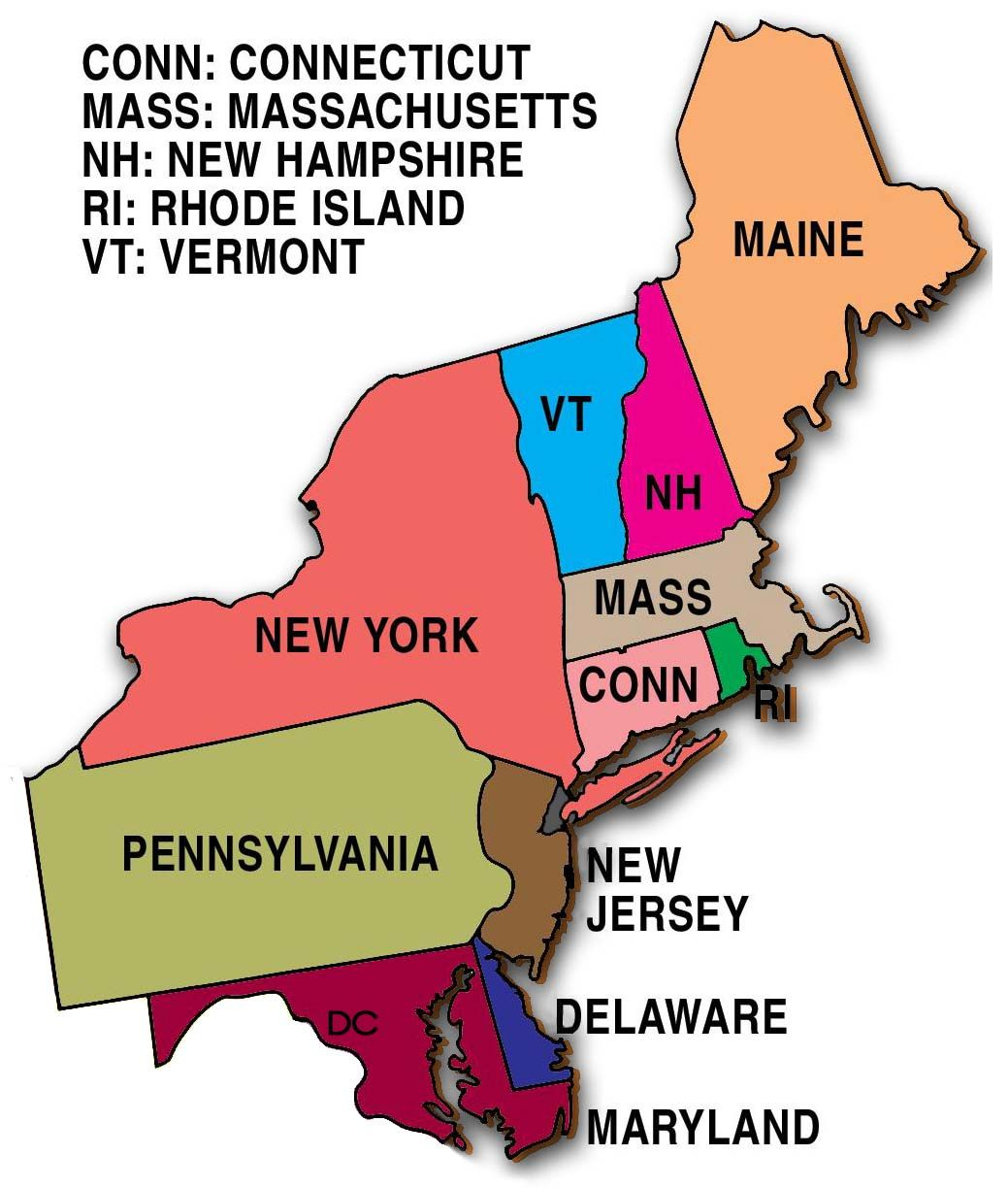 Ne Us States Map Related image | United states map, North east map, New england states