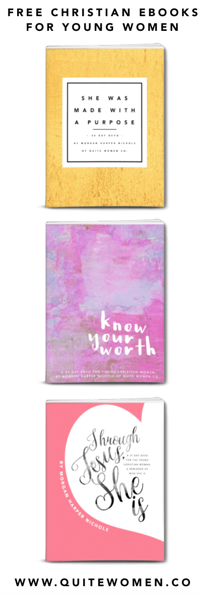 free Christian ebooks for young women 16 and up - great for gifts of small group materials - Christianity, faith, devotional, quote, inspiration, encouragement, printable, download, pdf, print out, free kindle books