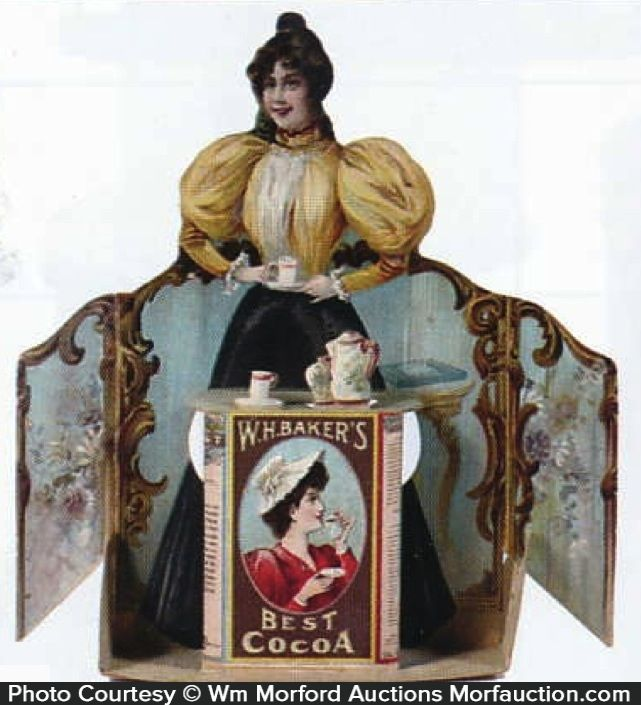 Antique Advertising   Baker's Best Cocoa Sign • Antique Advertising