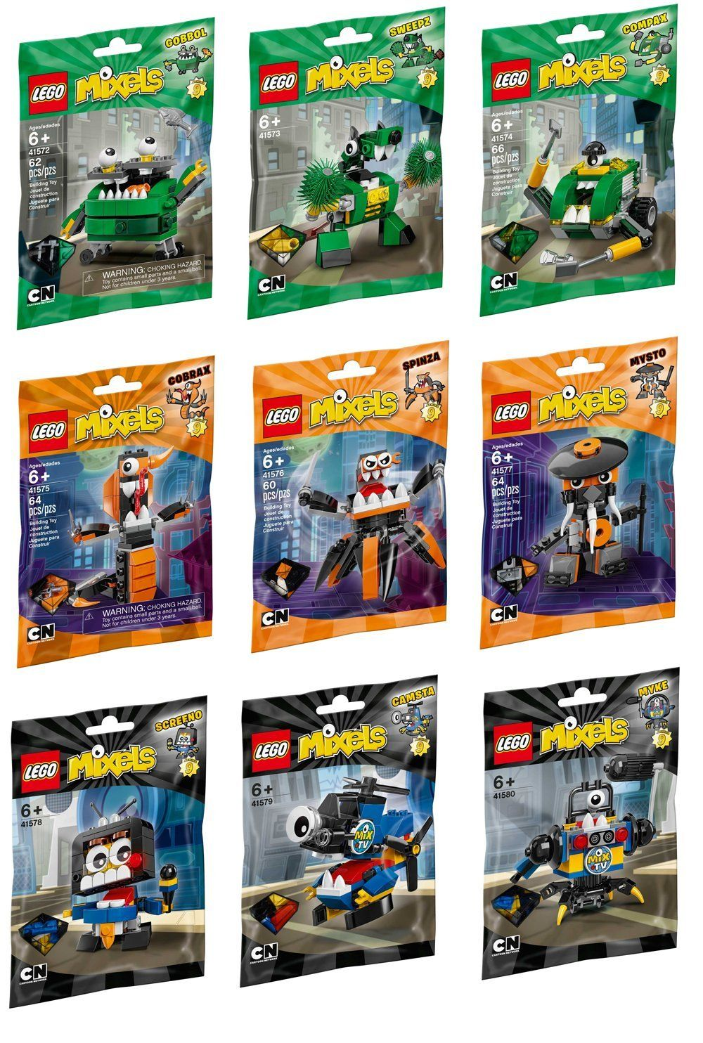 Lego Mixels Series 9 Complete Set Set Of 9 Toy Pinterest