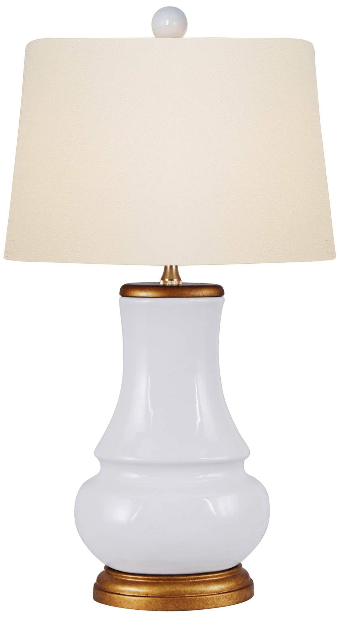 Table Lamps Barnaby White Porcelain Oval Gourd Accent Table Lamp In 2020 Table Lamp Lamp Accent Table