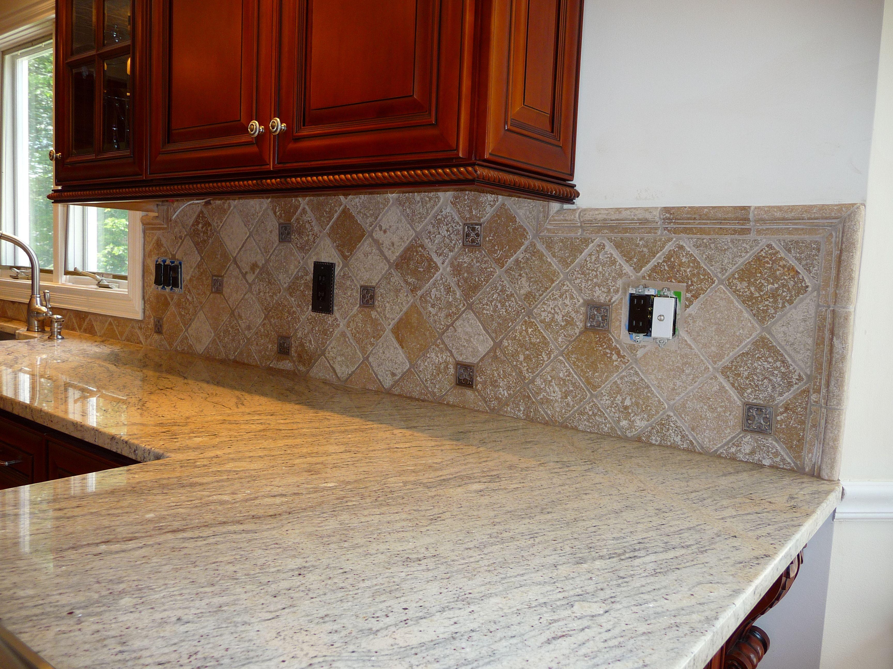 karras kitchen travertine backsplash kitchen pinterest