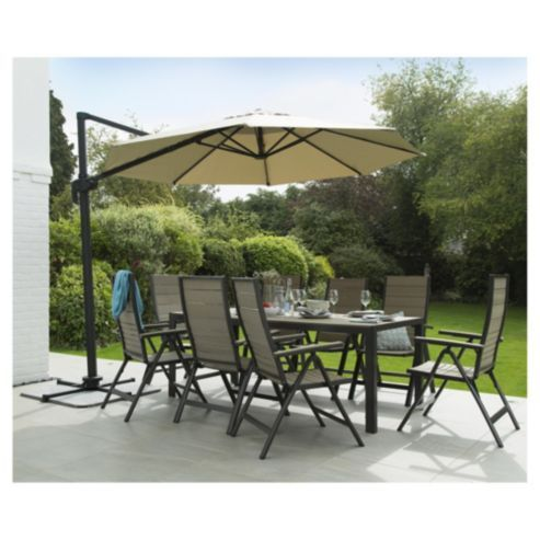 Rattan Garden Furniture Tesco coastal 8-seater aluminium rectangular garden table | garden