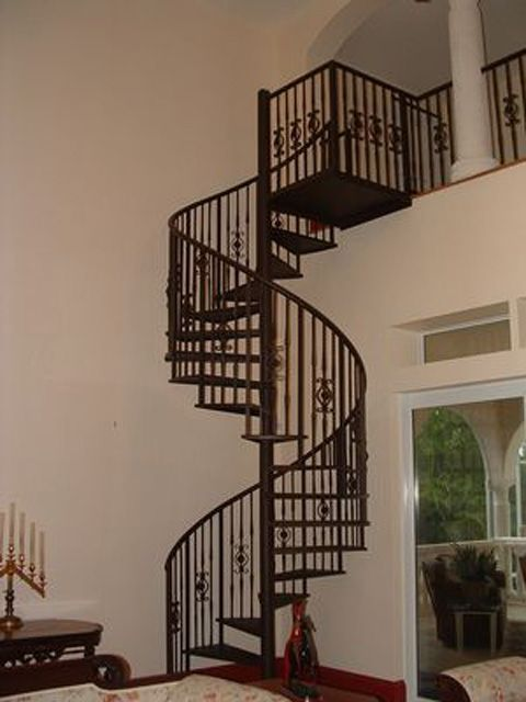 Best Custom Wrought Iron Spiral Staircase And Railings By 400 x 300