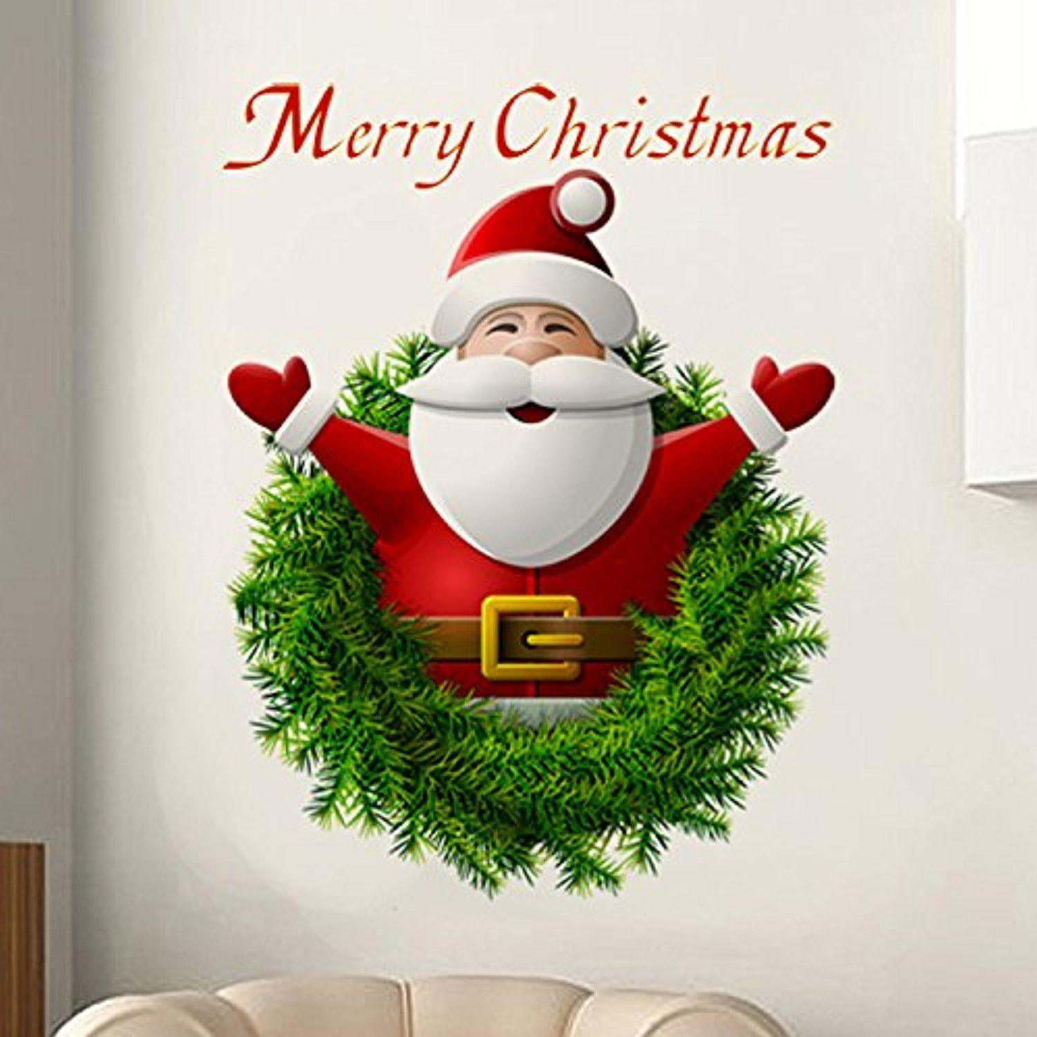 Window decor stickers  christmas windows stickers wall stickers d santa claus merry