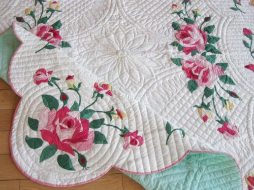 Vintage American Beauty Rose Applique Quilt The Best