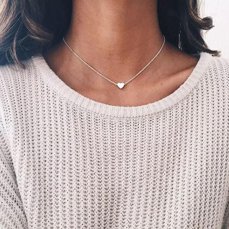 Stainless steel choker rose quartz necklace birthday gift delicate necklace everyday necklace minimalist necklace dainty necklace