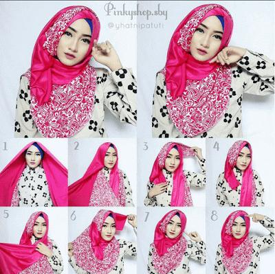 47 Tutorial Model Hijab Pesta Syar I Simple Yang Modern Model