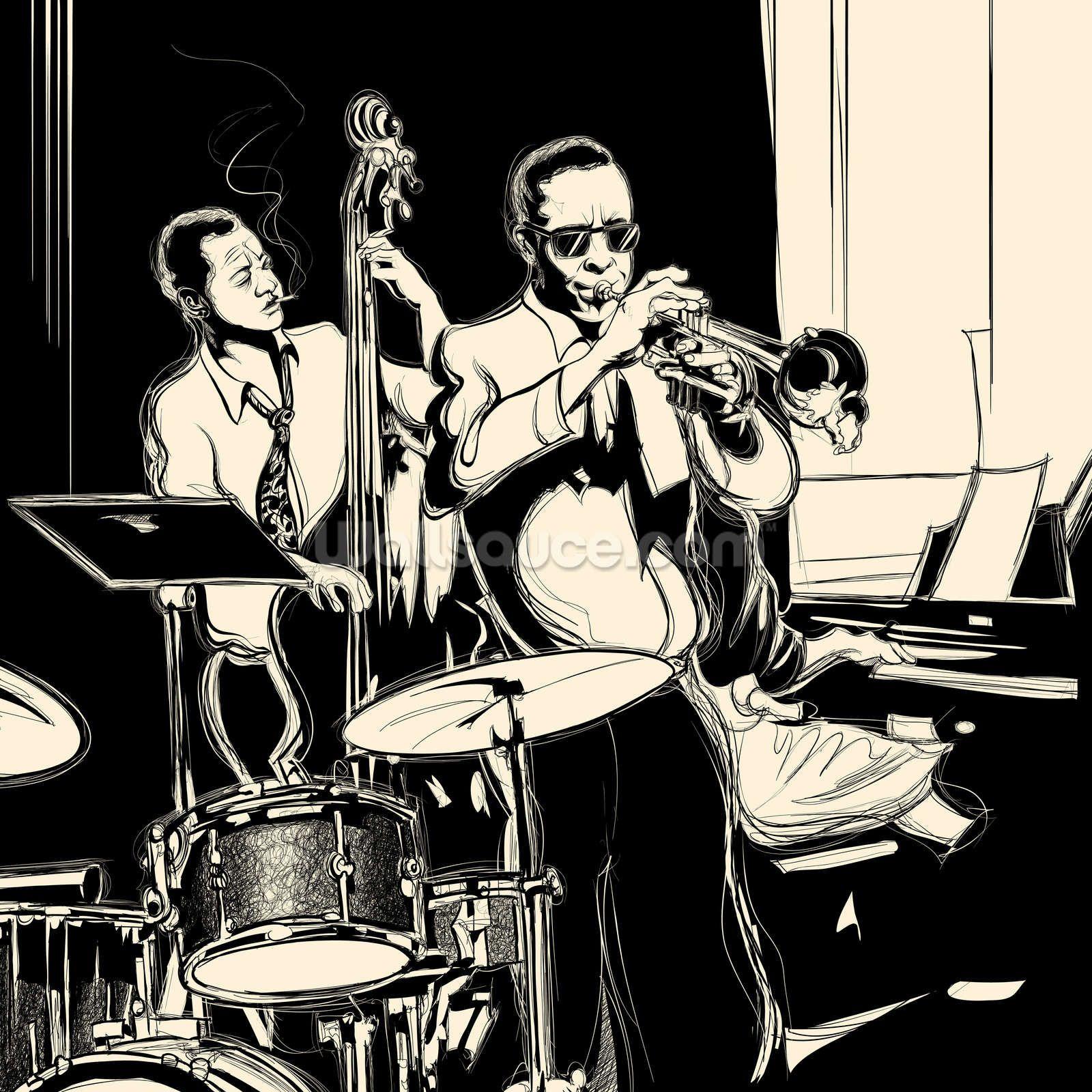 Jazz Black Amp White Wallpaper