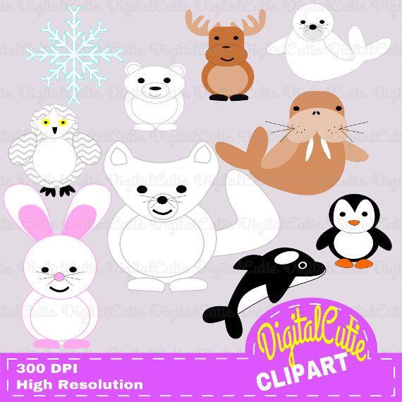 Buy 2 Get Any 2 Free Fun Arctic Animals Clipart Set Instant Download Item 100052 Arctic Animals Animal Clipart Clip Art